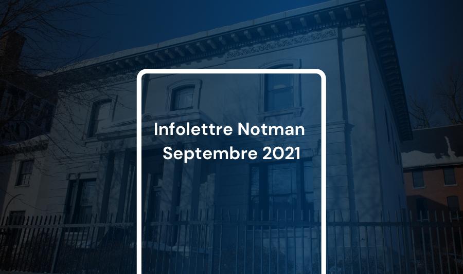Infolettre Notman 2021