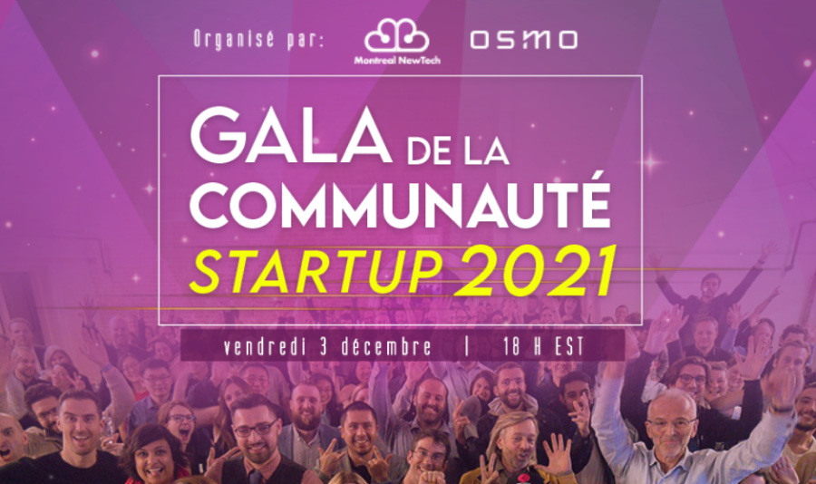 Gala de la communauté startup 3 décembre 2021 18h EST